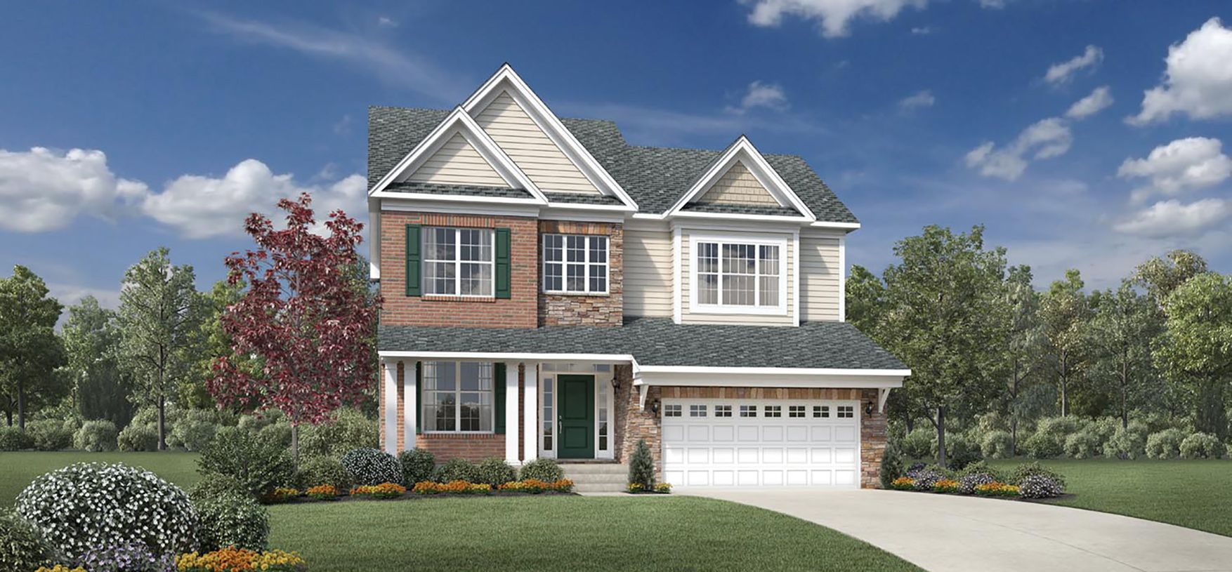 Exterior featured in the Irvine By Toll Brothers in Detroit, MI