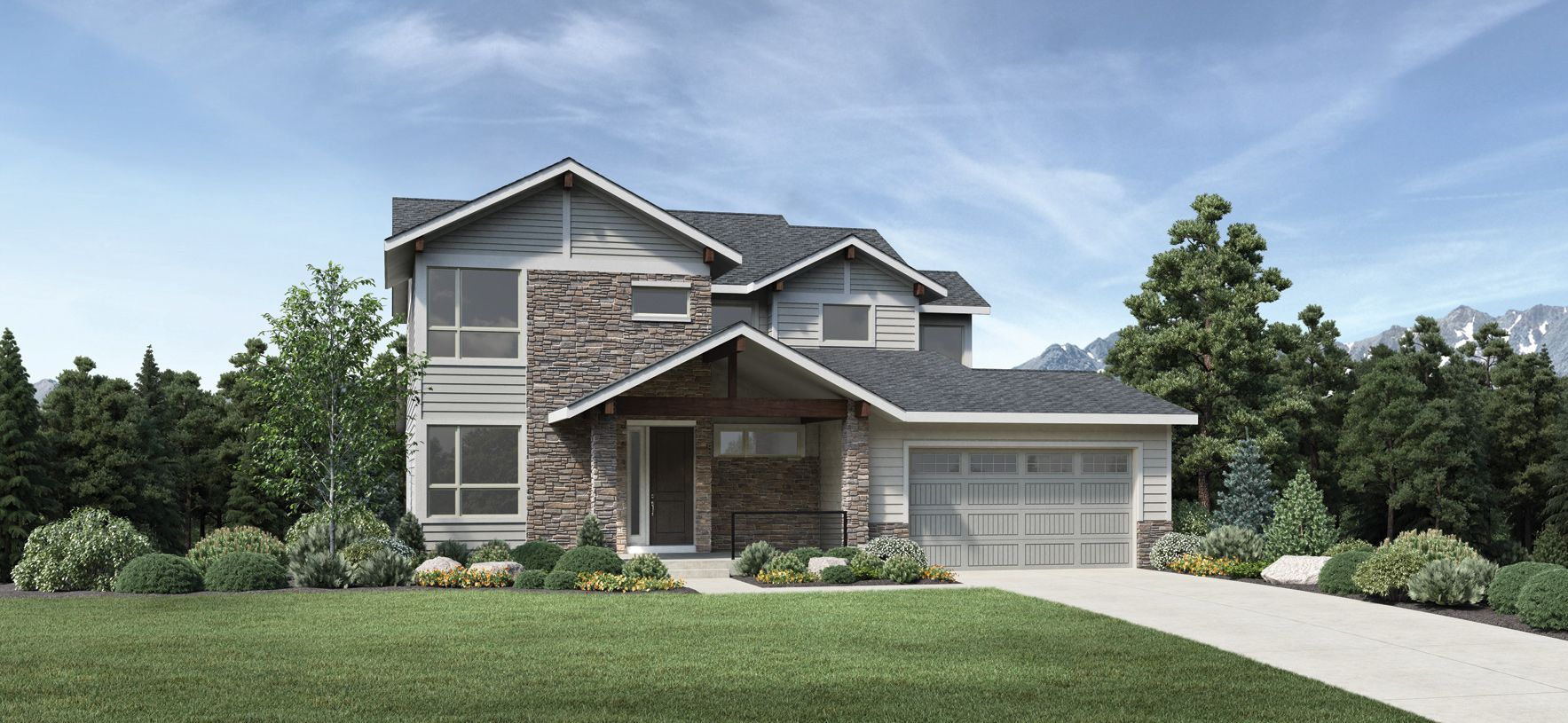 Exterior featured in the Yale By Toll Brothers in Denver, CO