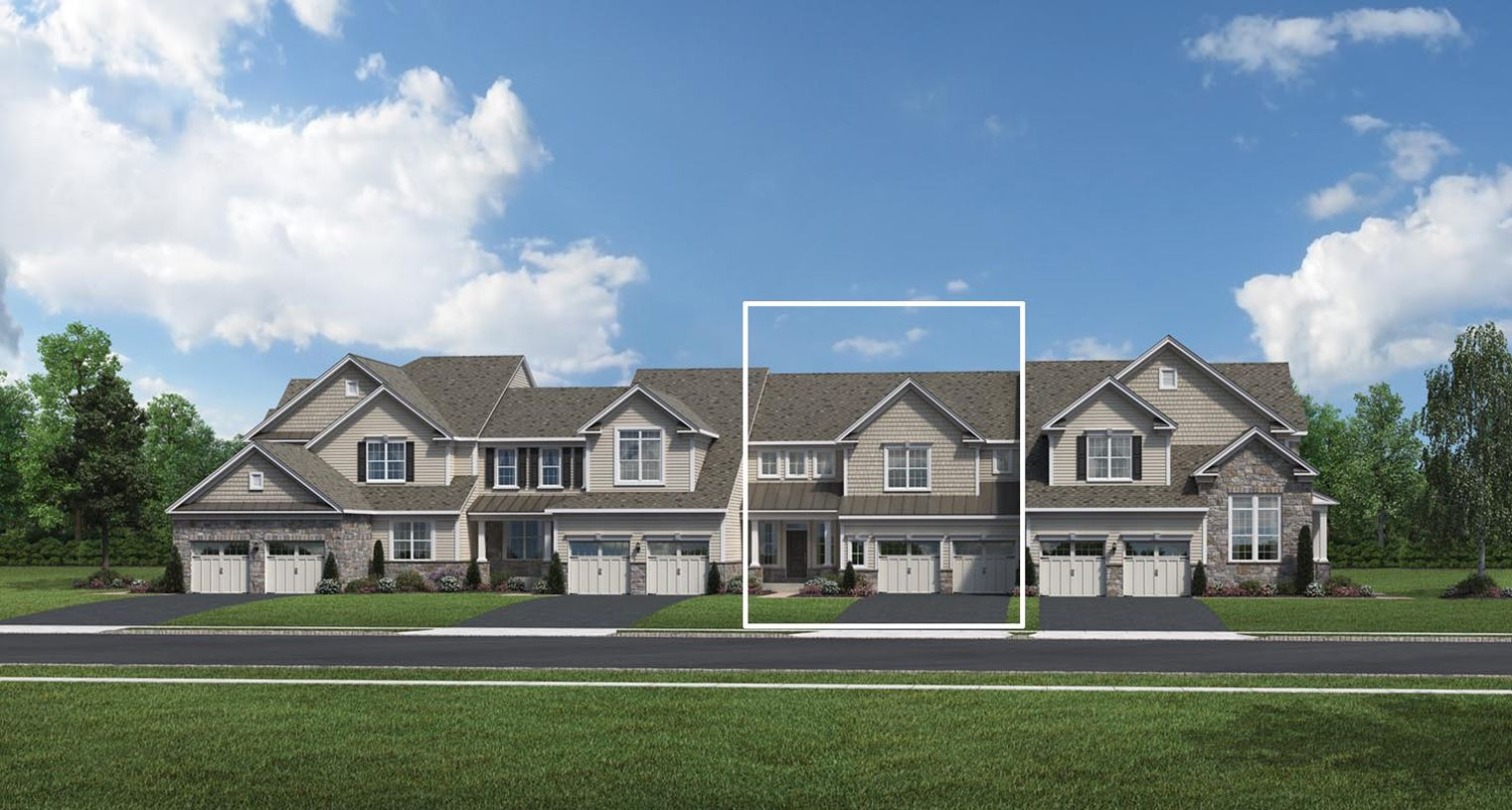 Exterior featured in the Shannon By Toll Brothers in Bergen County, NJ