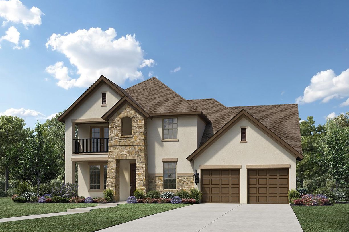 Exterior featured in the Landry By Toll Brothers in Houston, TX