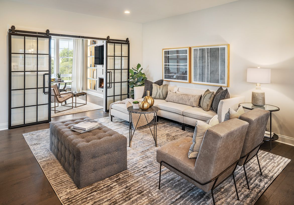 Living Area featured in the Ansford By Toll Brothers in Danbury, CT
