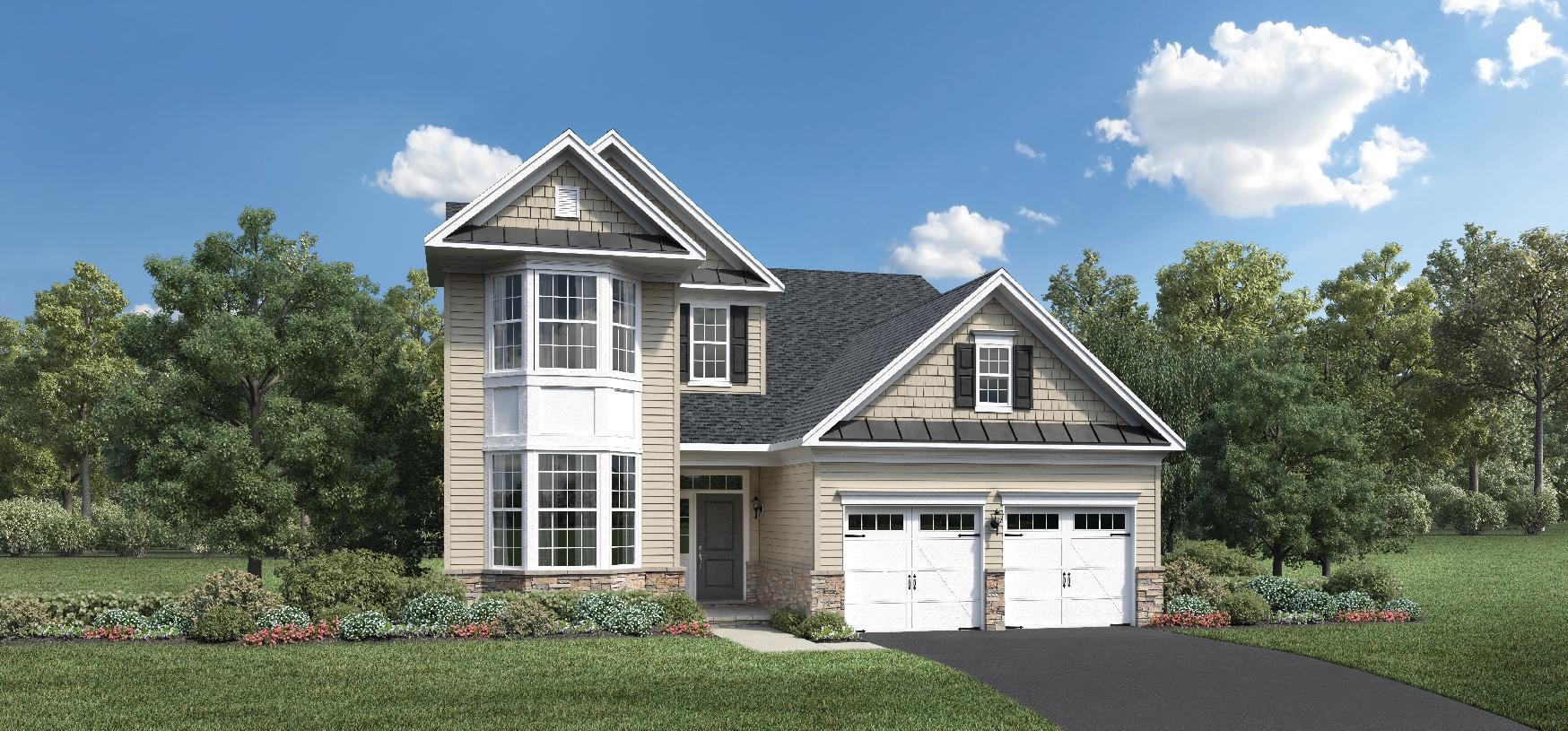 Exterior featured in the Hammond By Toll Brothers in Monmouth County, NJ