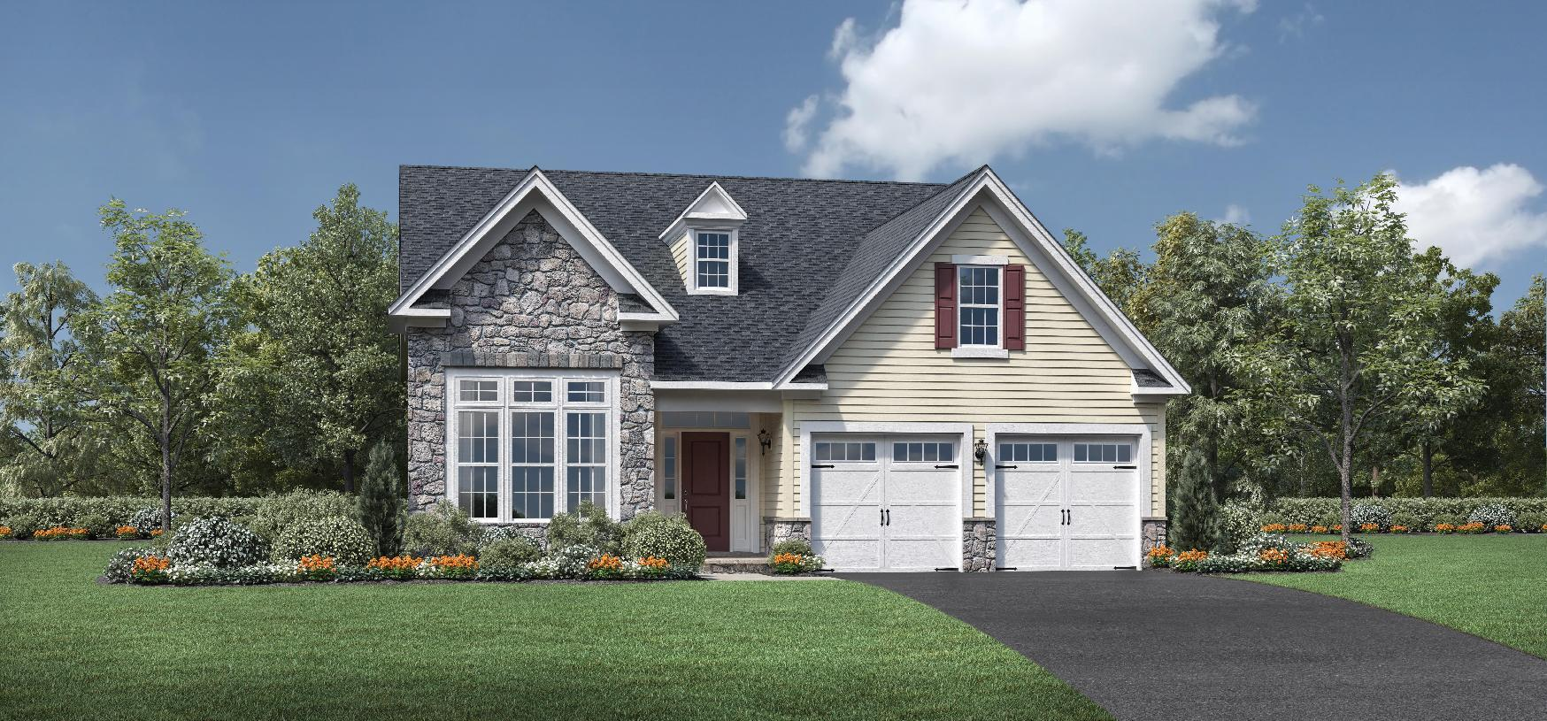 Exterior featured in the Binghamton By Toll Brothers in Monmouth County, NJ