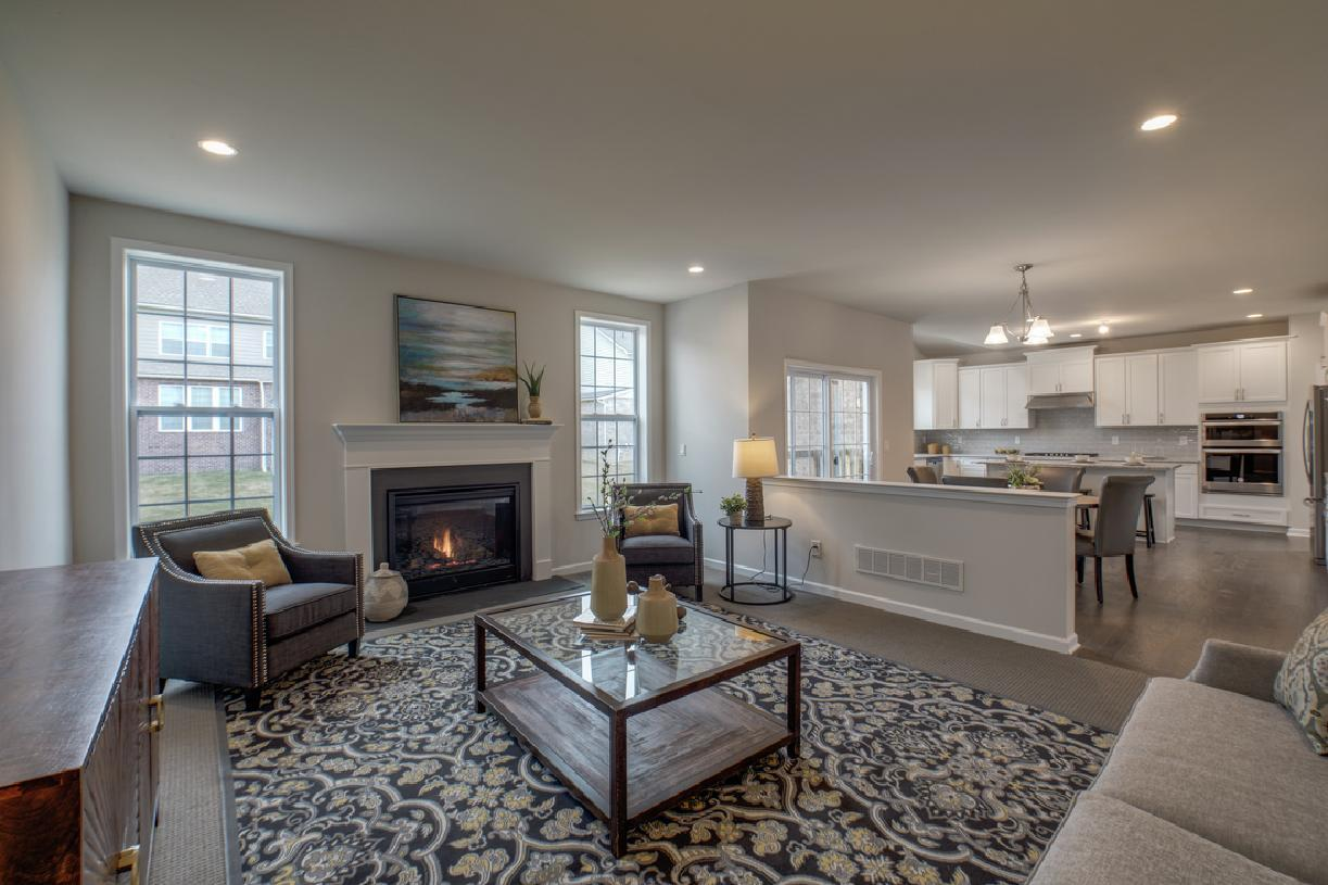 Living Area featured in the Irvine By Toll Brothers in Detroit, MI