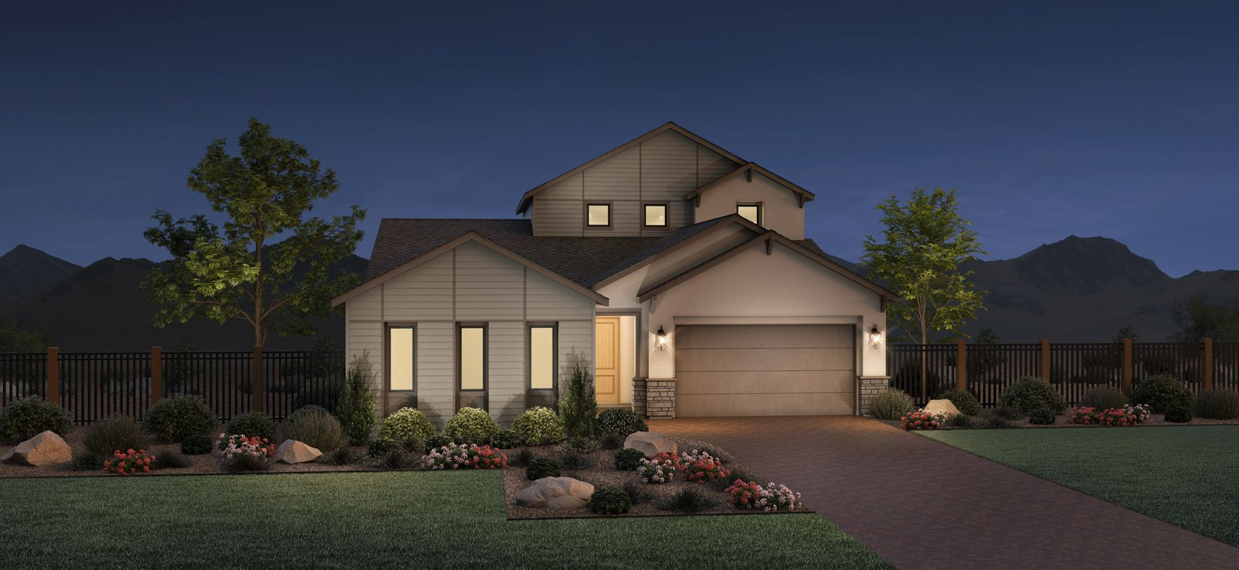 Exterior featured in the Riverton By Toll Brothers in Reno, NV