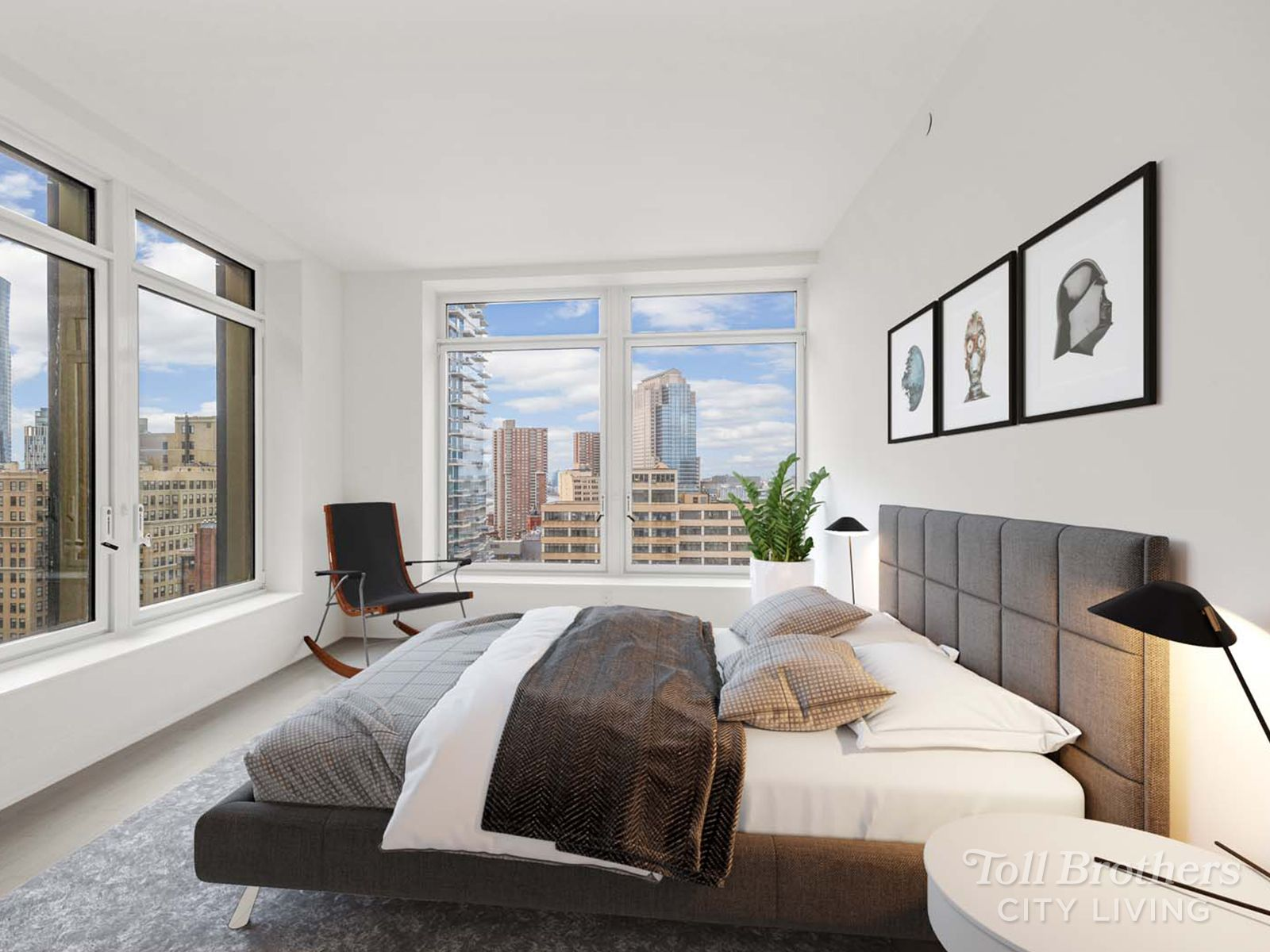 Bedroom featured in the PH3 By Toll Brothers in New York, NY