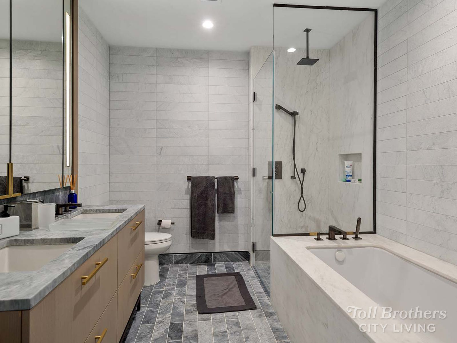 Bathroom featured in the 12C By Toll Brothers in New York, NY