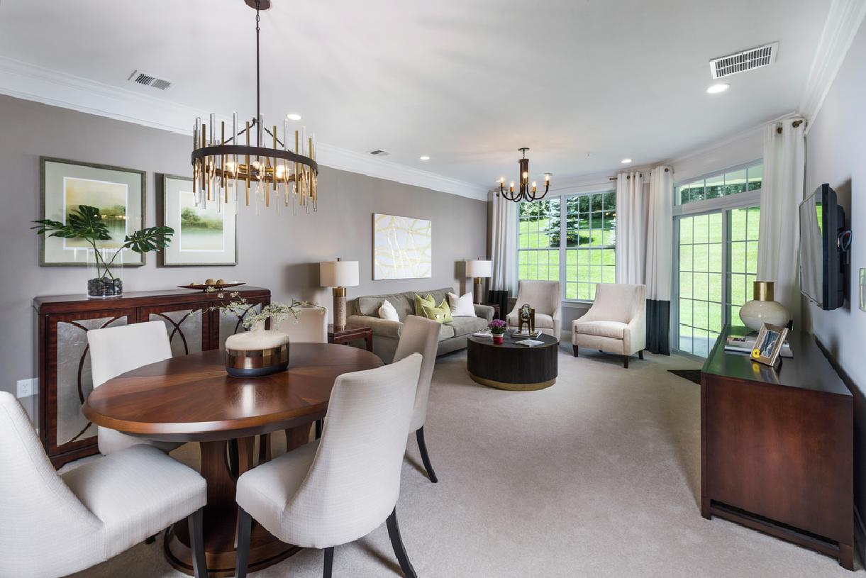 Living Area featured in the Alton By Toll Brothers in Danbury, CT