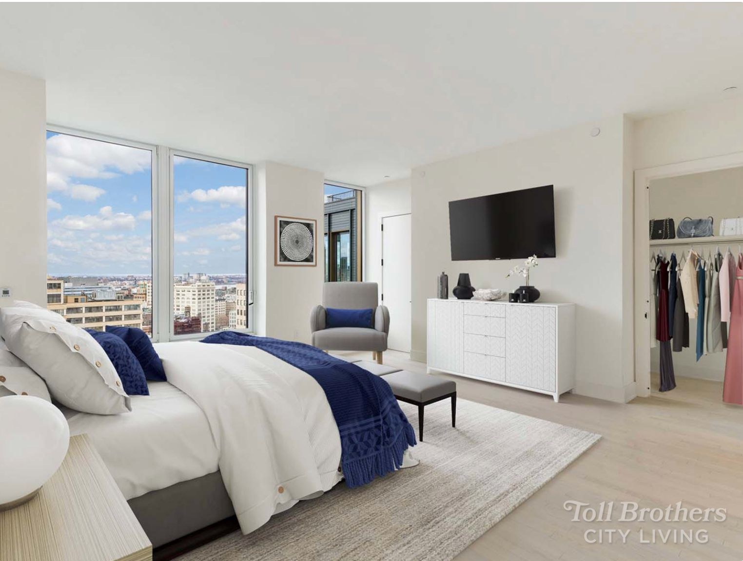 Bedroom featured in the PH1 By Toll Brothers in New York, NY