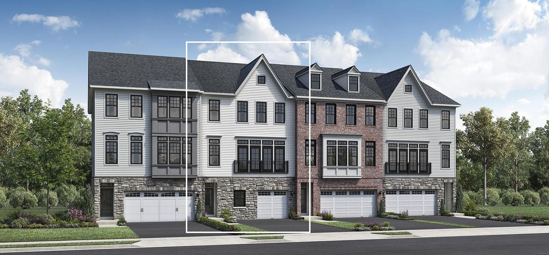 Exterior featured in the Carlough By Toll Brothers in Bergen County, NJ