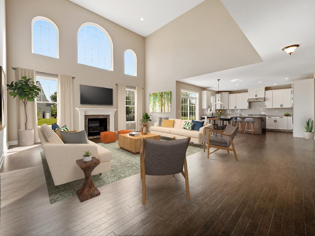 Living Area featured in the Palmerton By Toll Brothers in Detroit, MI