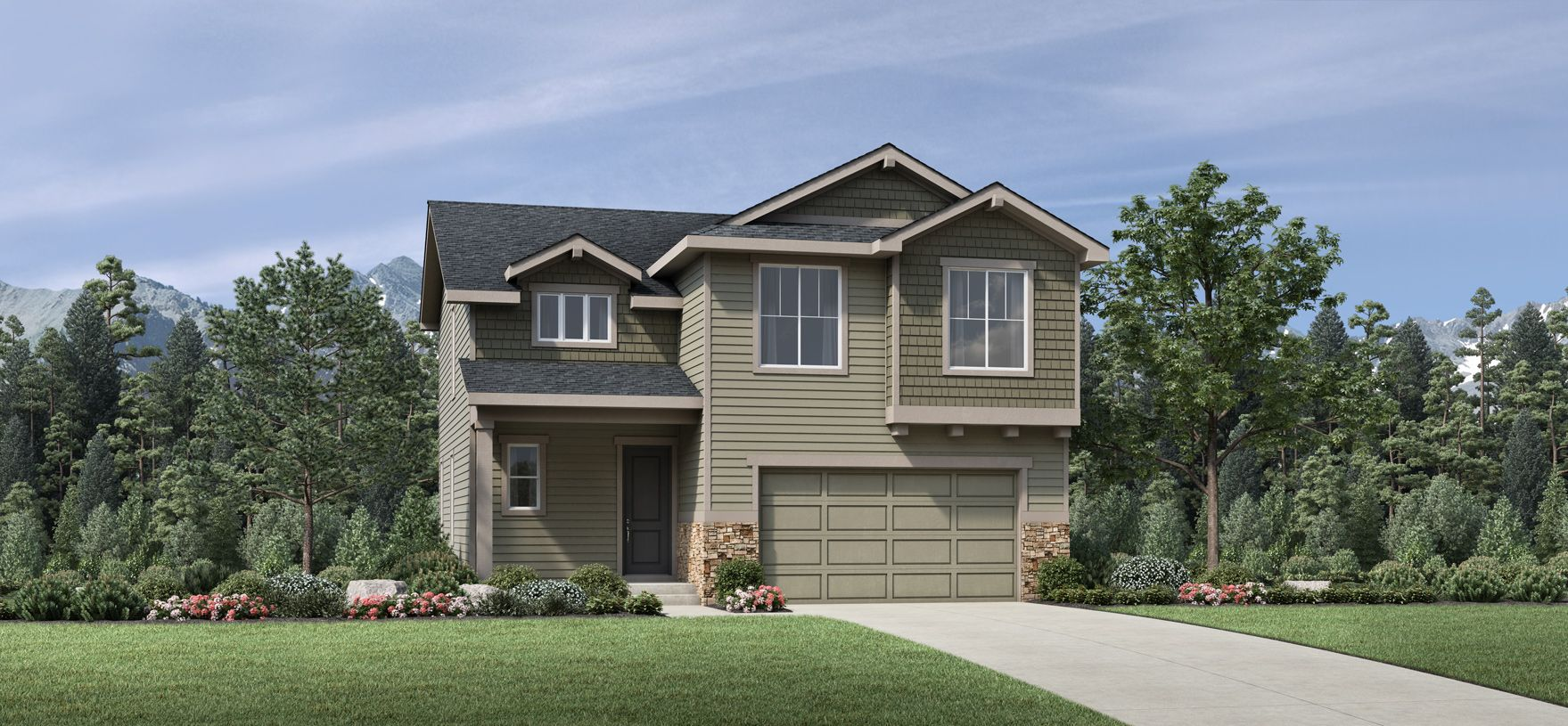 Exterior featured in the Harvey By Toll Brothers in Denver, CO