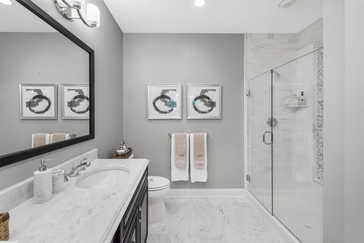 Bathroom featured in the Attlebury By Toll Brothers in Dutchess County, NY
