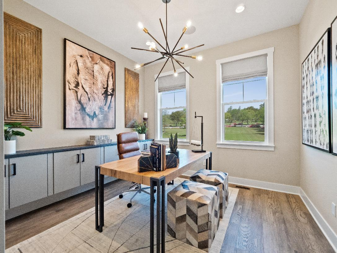 Living Area featured in the Waltham By Toll Brothers in Detroit, MI