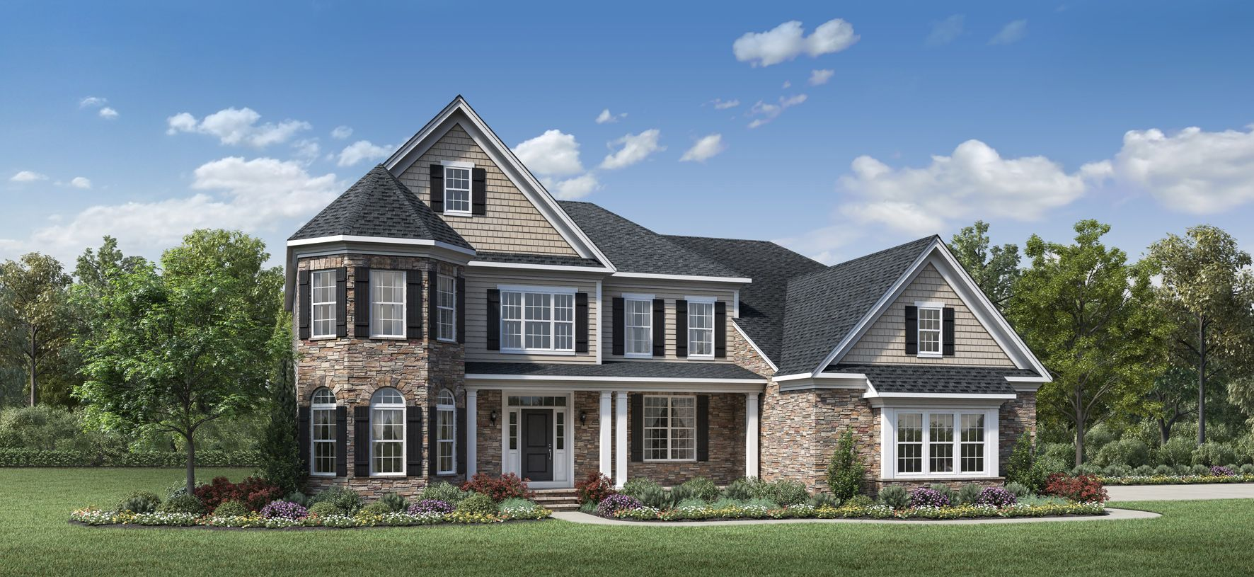 Exterior featured in the Harding By Toll Brothers in Detroit, MI