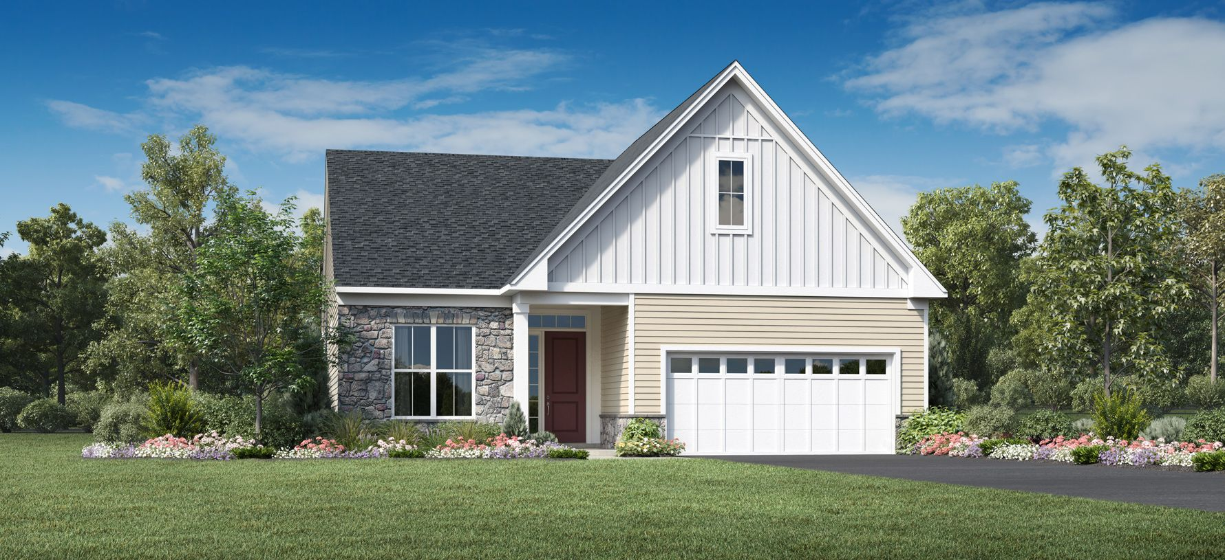 Exterior featured in the Farmingham By Toll Brothers in Monmouth County, NJ