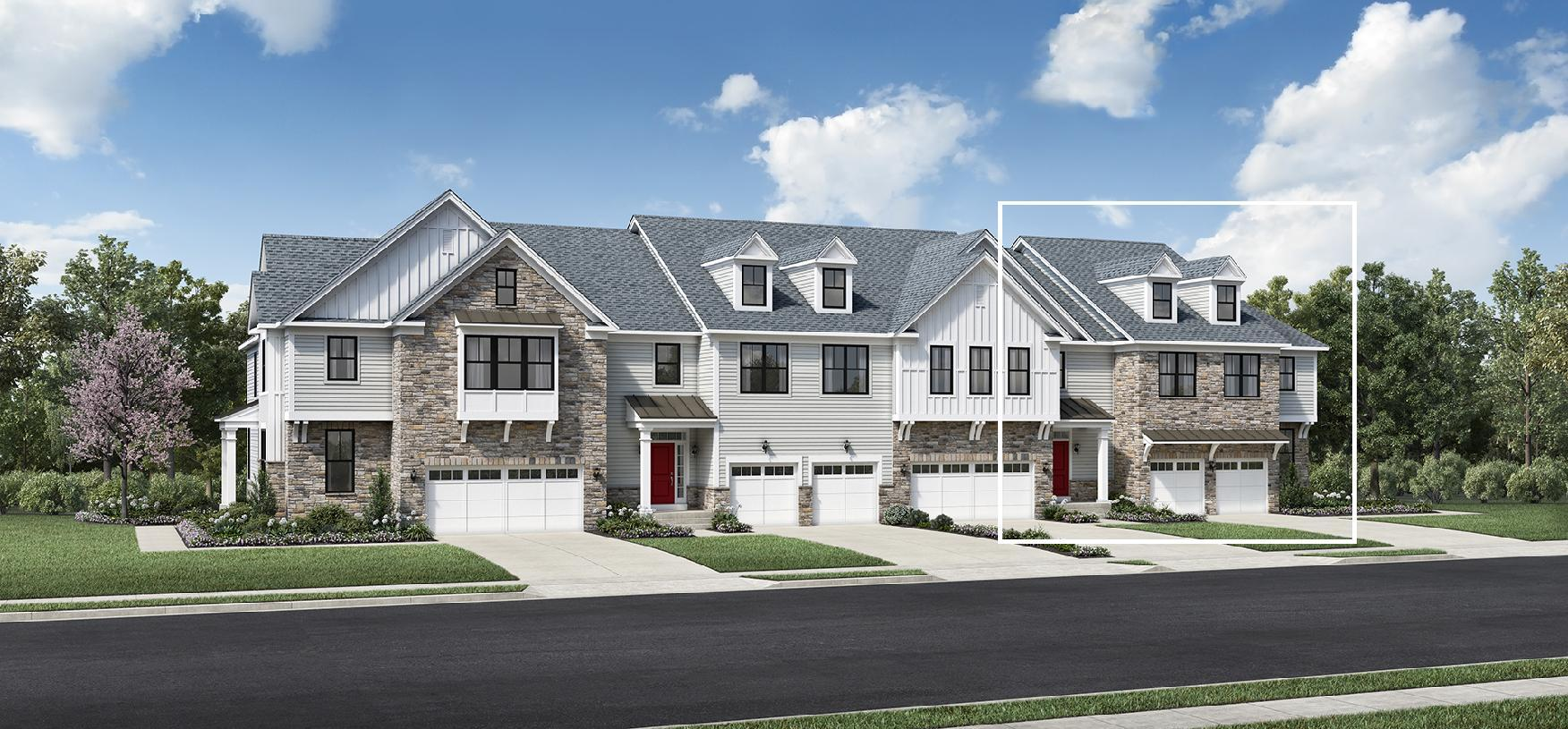 Exterior featured in the Leyton By Toll Brothers in Somerset County, NJ