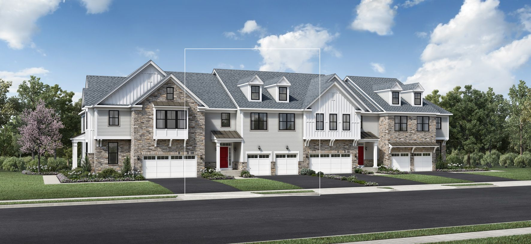 Exterior featured in the Eldon By Toll Brothers in Somerset County, NJ