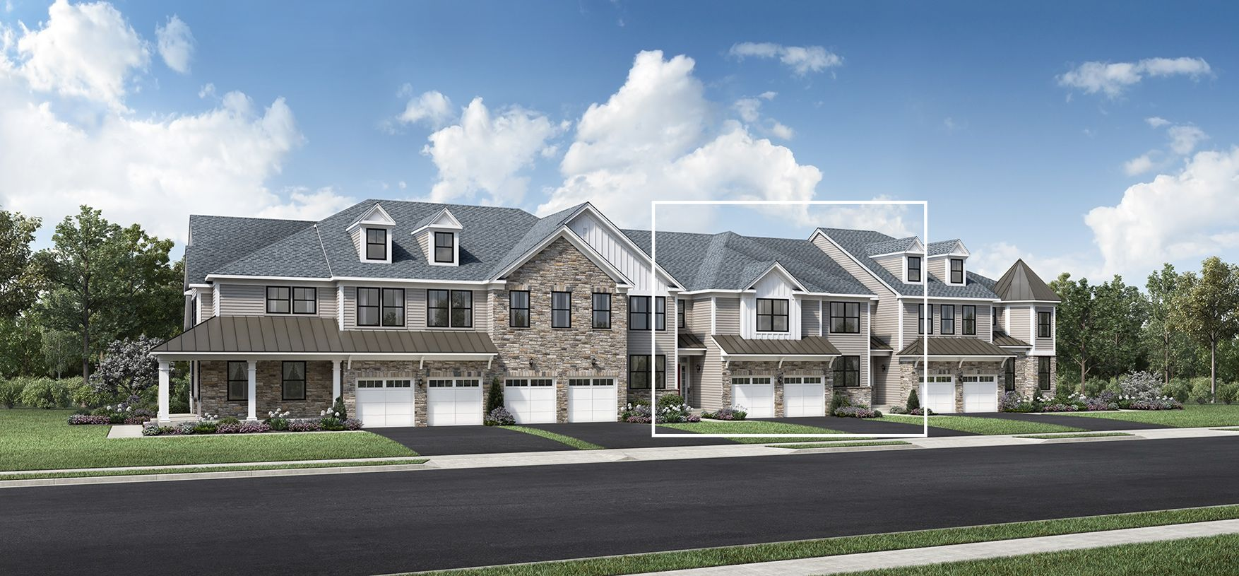 Exterior featured in the Amberley By Toll Brothers in Somerset County, NJ