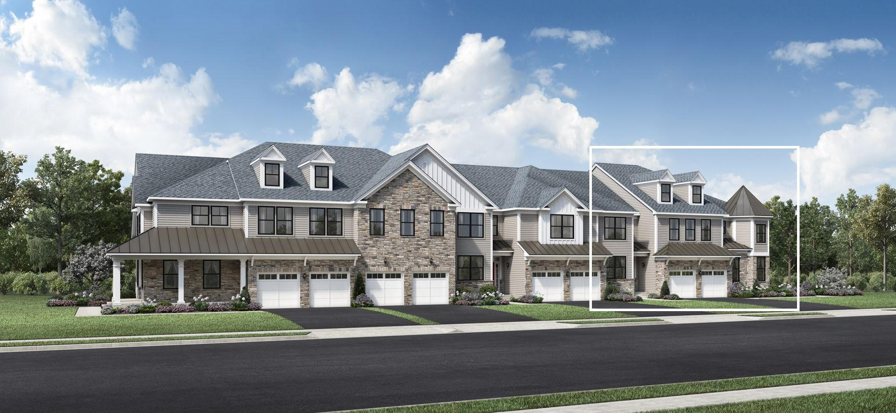 Exterior featured in the Bexley By Toll Brothers in Somerset County, NJ