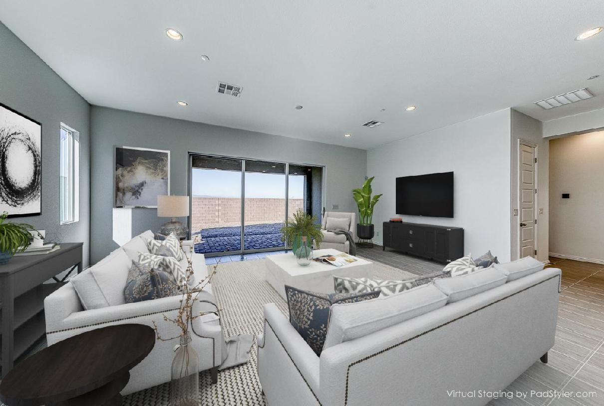 Living Area featured in the Pineridge By Toll Brothers in Las Vegas, NV