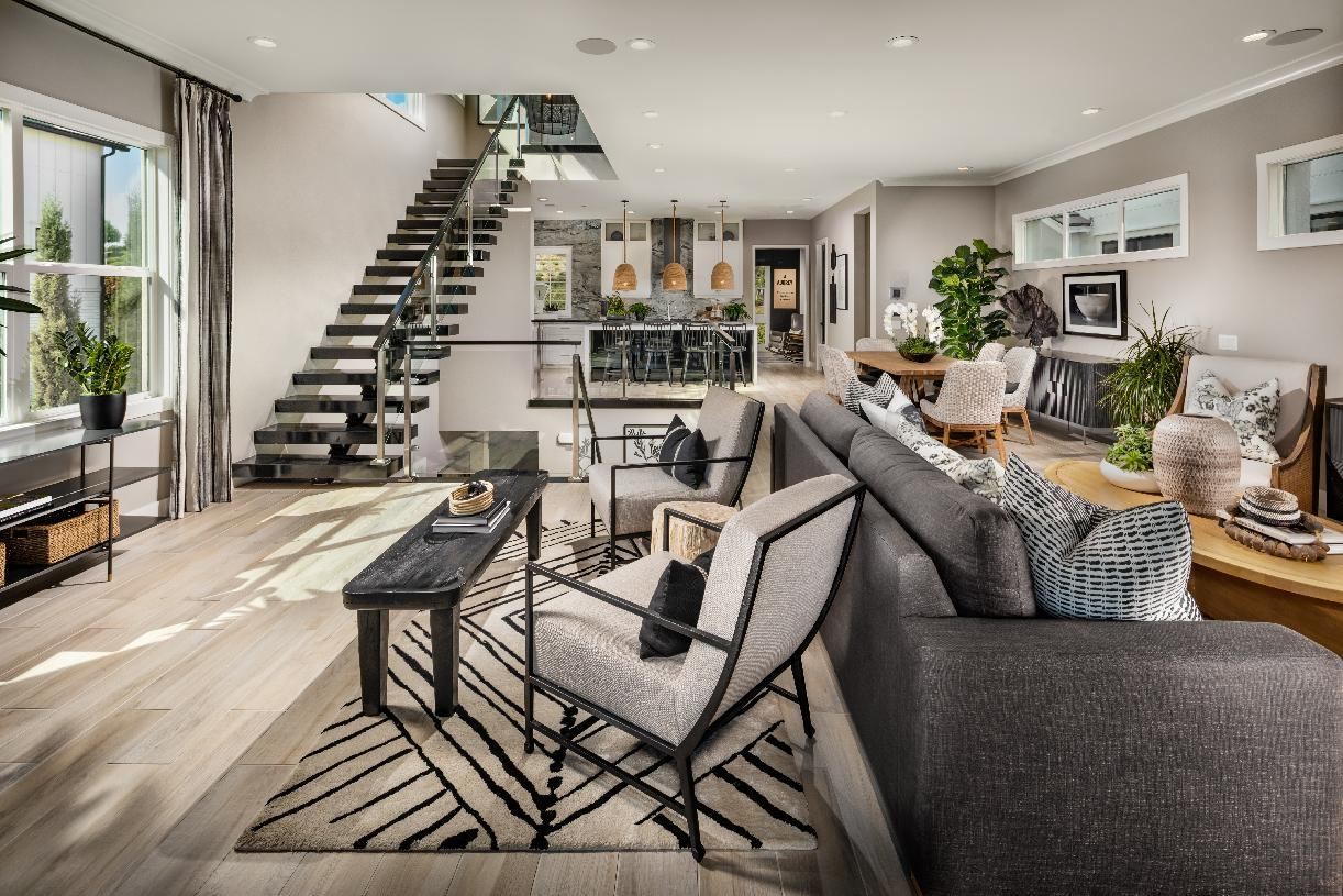 Living Area featured in the Tidewater By Toll Brothers in Orange County, CA