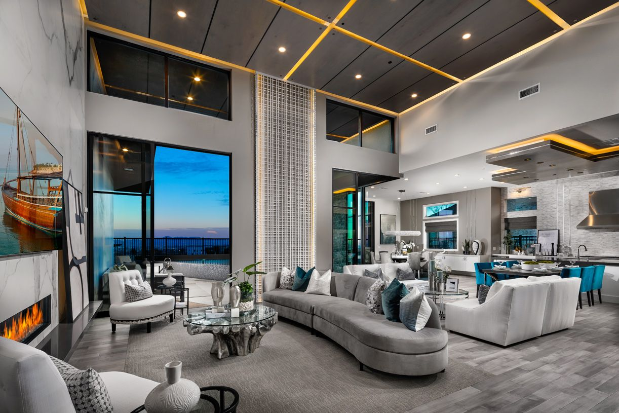 Living Area featured in the Boulder By Toll Brothers in Las Vegas, NV