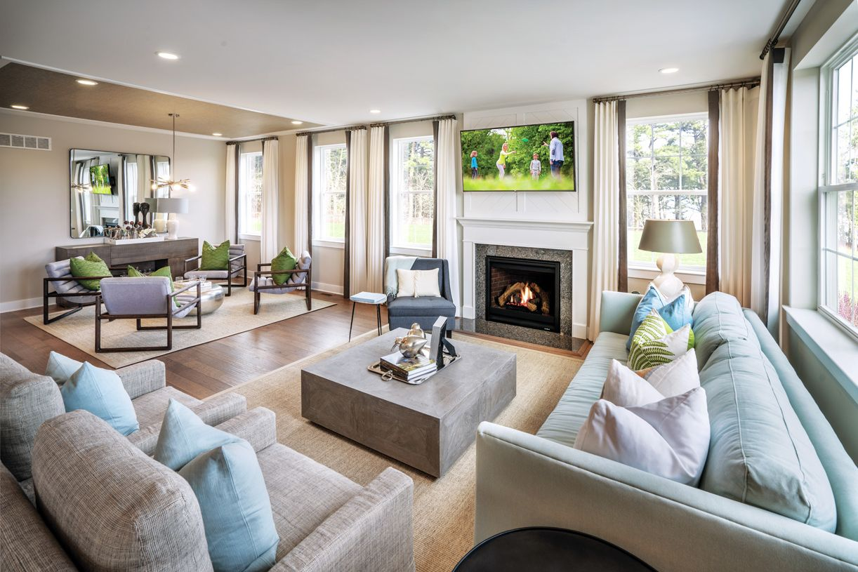 Living Area featured in the Mapleton By Toll Brothers in Chicago, IL