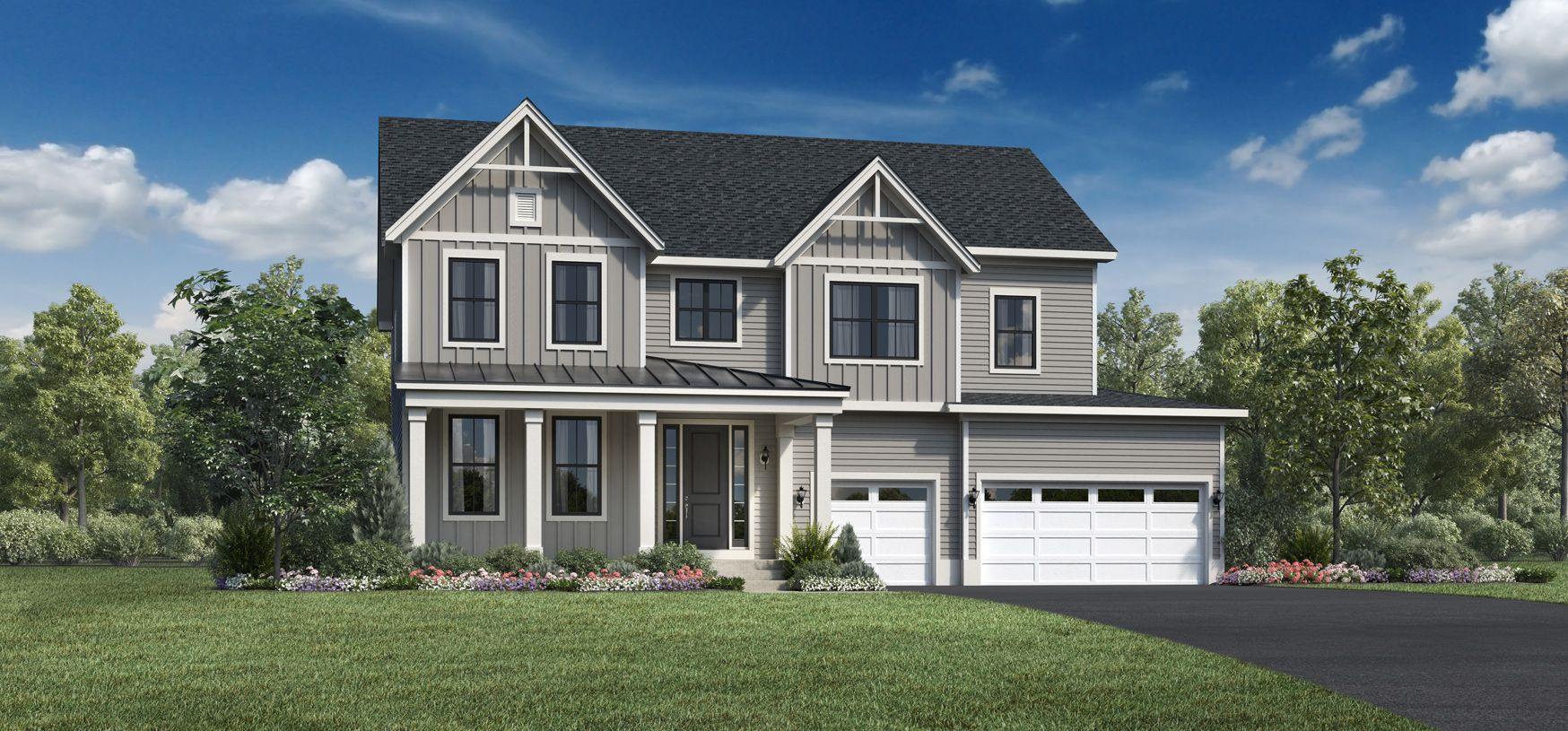 Exterior featured in the Winnetka By Toll Brothers in Chicago, IL