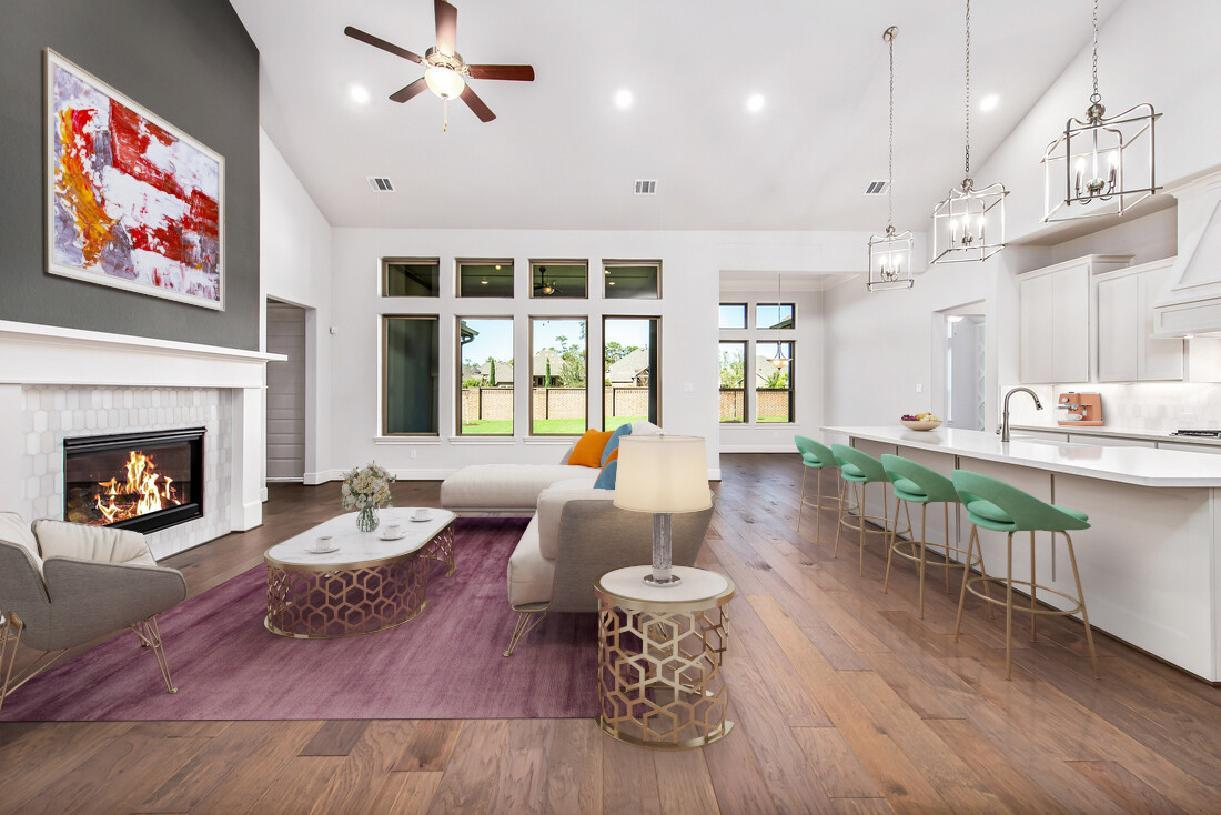 Living Area featured in the Emery By Toll Brothers in Houston, TX