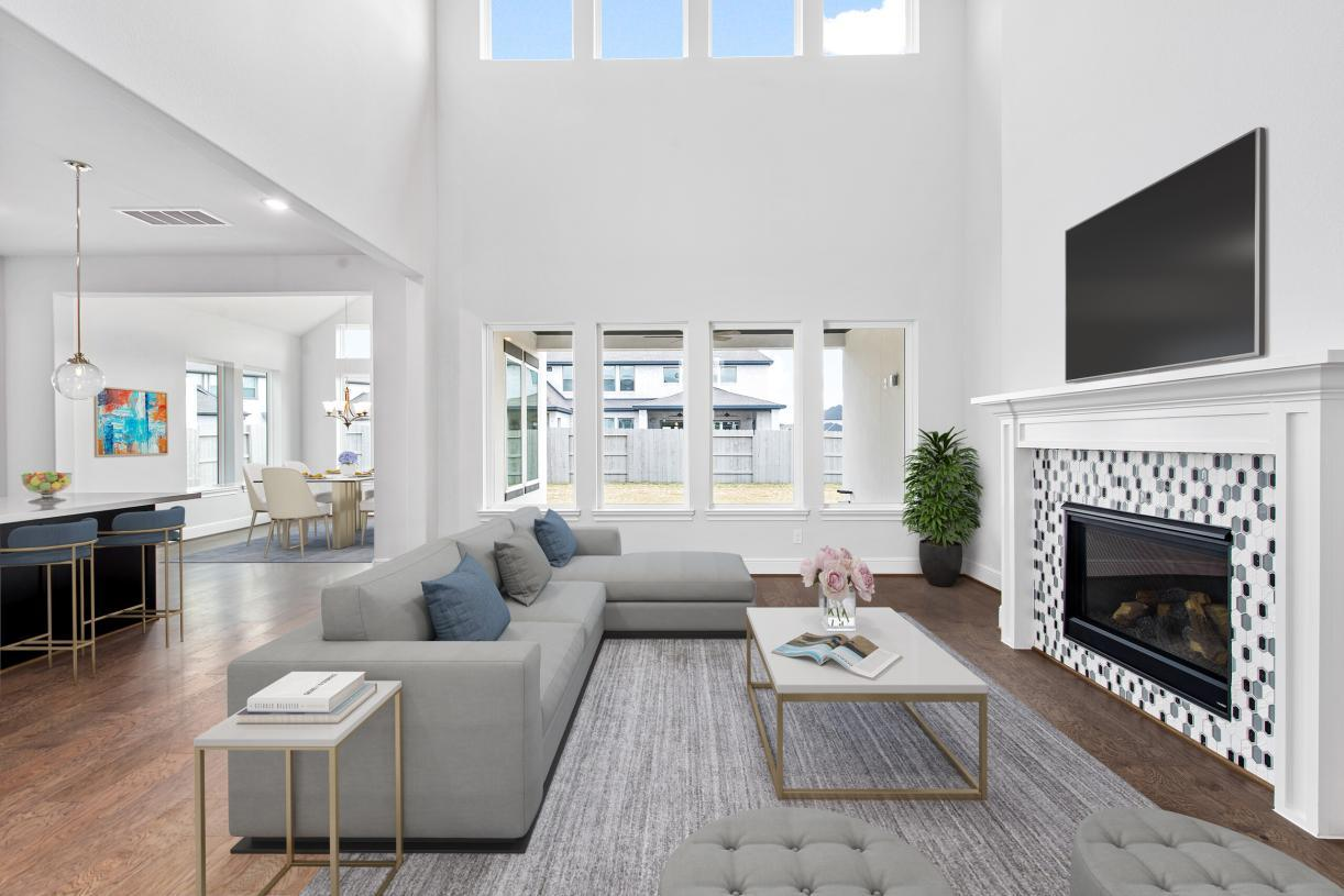 Living Area featured in the Fairholm By Toll Brothers in Houston, TX