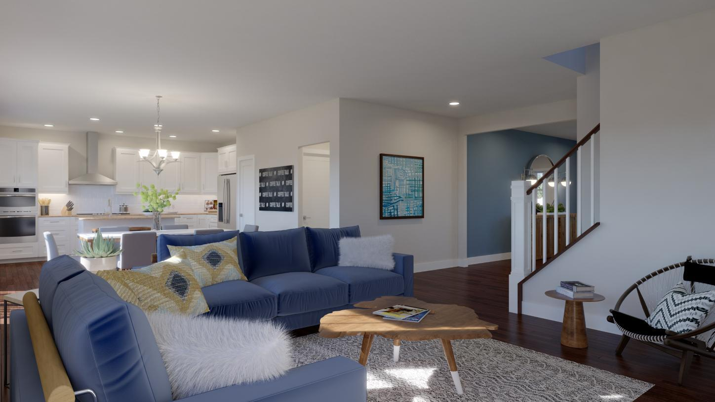 Living Area featured in the Dunlap By Toll Brothers in Chicago, IL