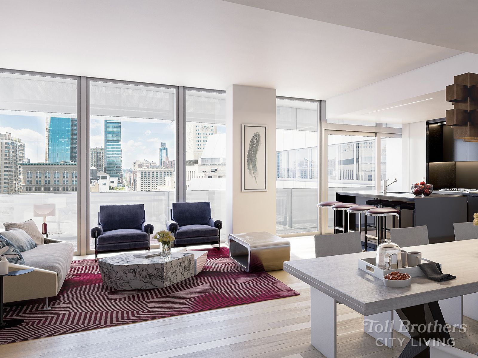 Living Area featured in the N1605 By Toll Brothers in New York, NY