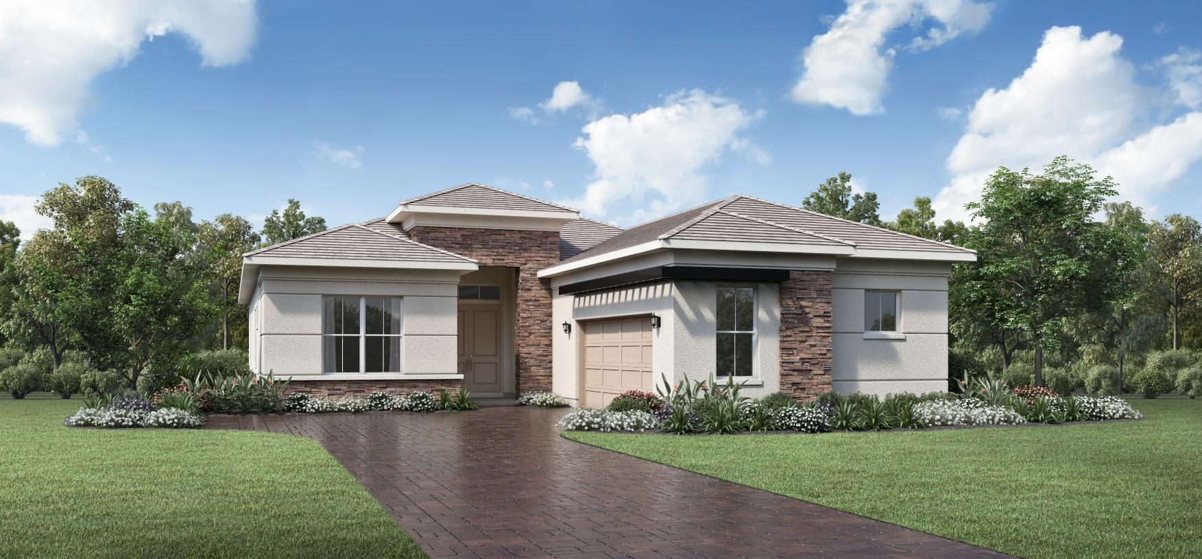 Exterior featured in the Salerno By Toll Brothers in Palm Beach County, FL