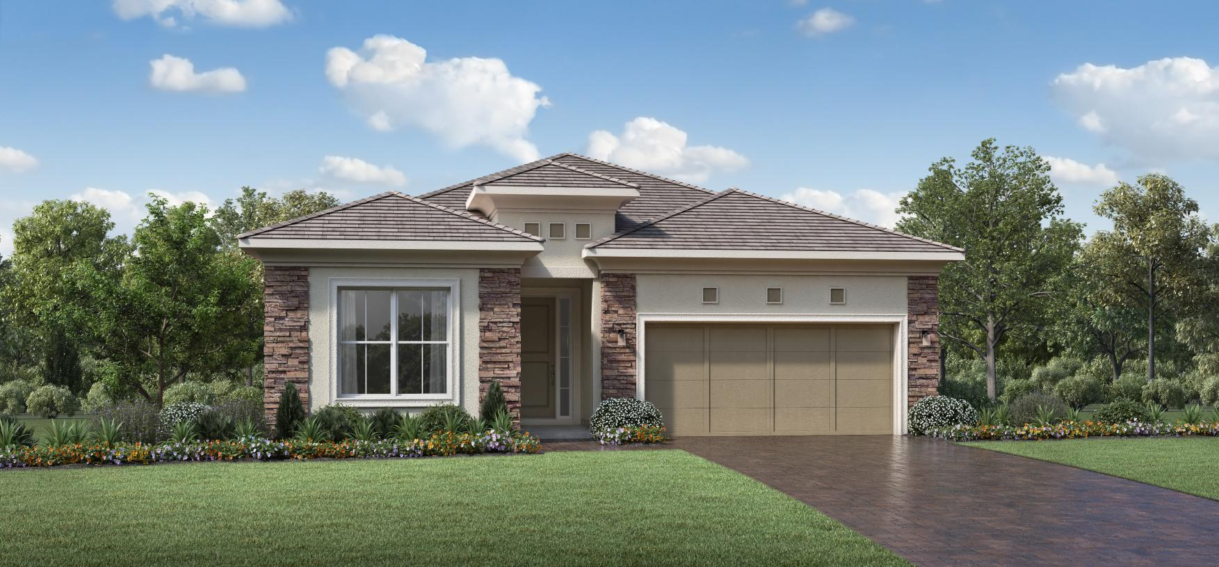 Exterior featured in the Jesalin By Toll Brothers in Palm Beach County, FL