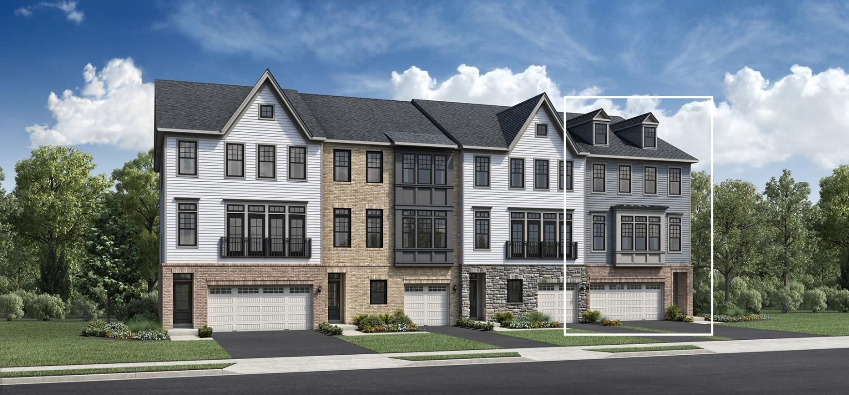 Exterior featured in the Dansfield By Toll Brothers in Bergen County, NJ