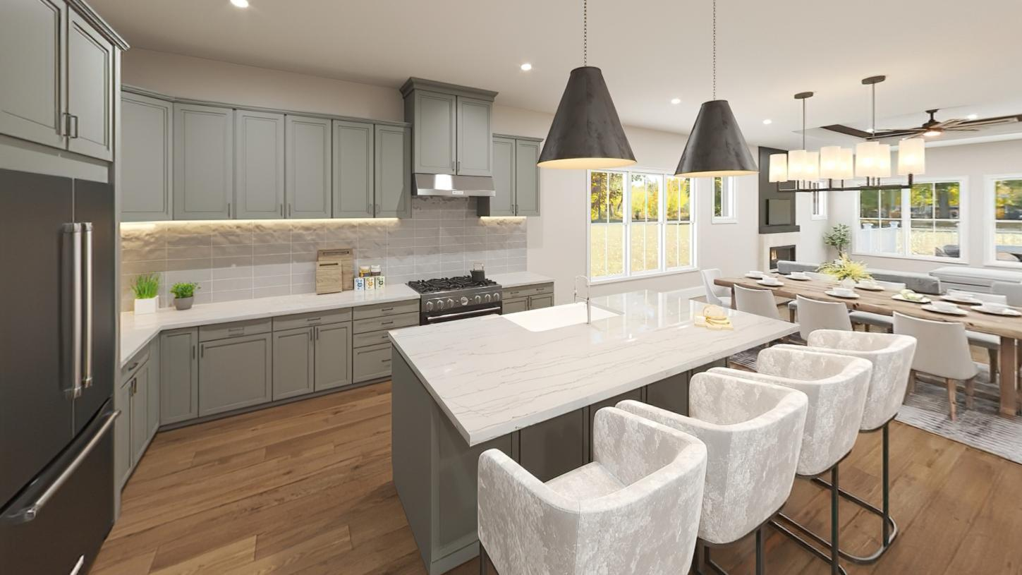 Kitchen featured in the Davis By Toll Brothers in Boston, MA