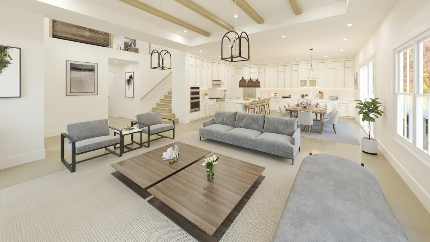 Living Area featured in the Wetherbee By Toll Brothers in Boston, MA