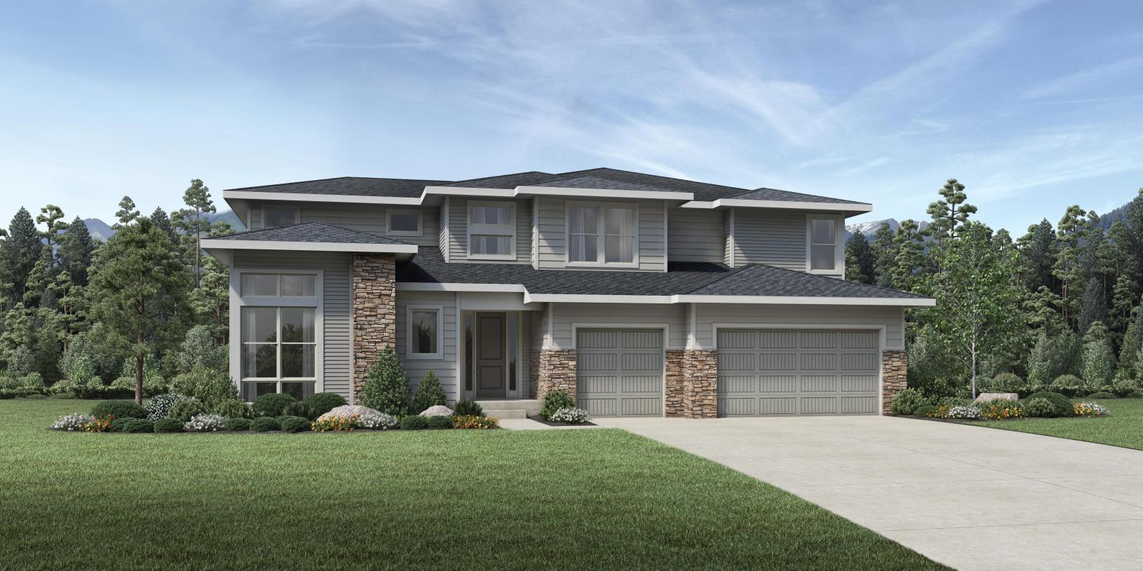 Exterior featured in the Bross By Toll Brothers in Denver, CO