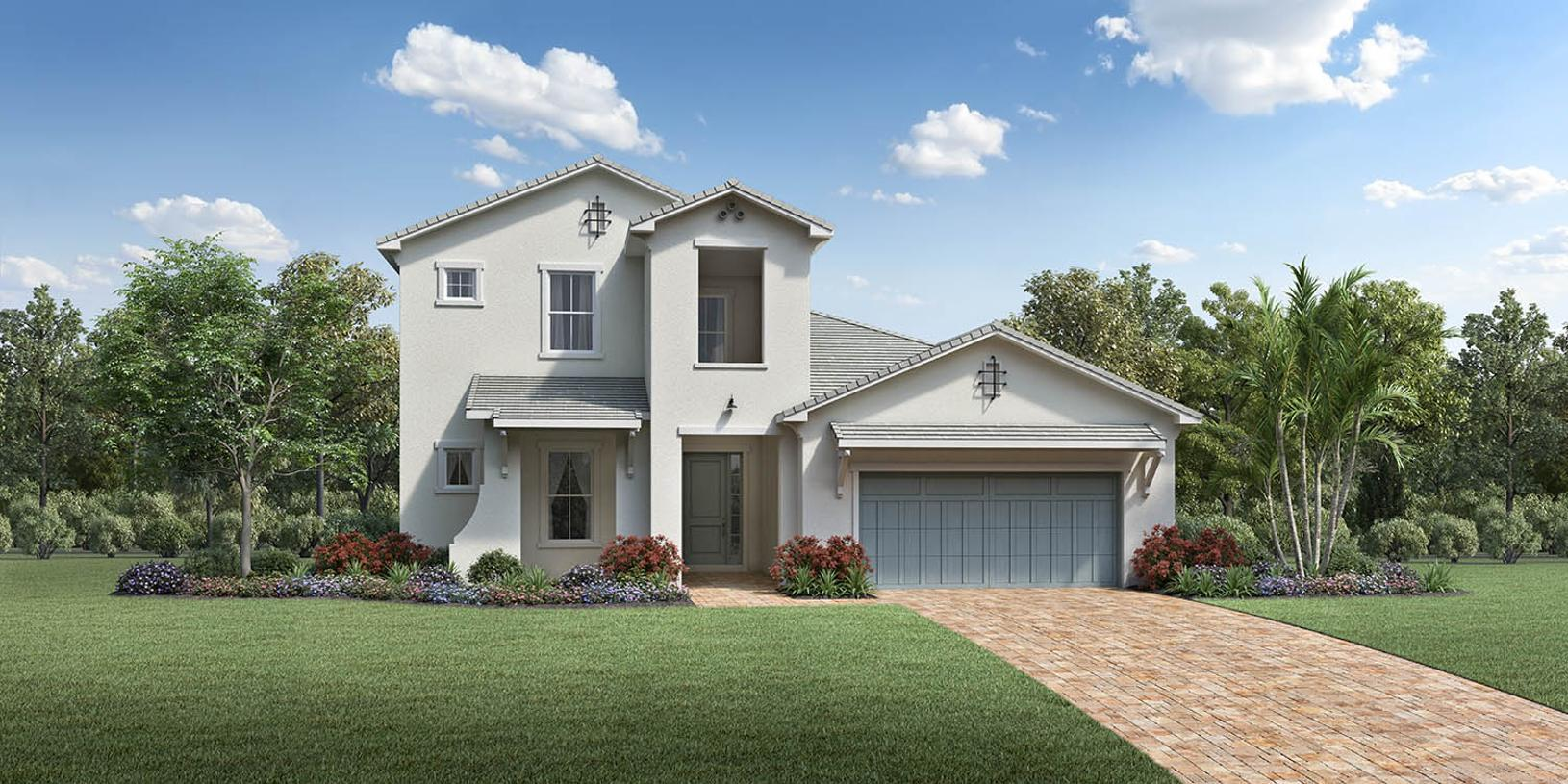 Exterior featured in the Corrine By Toll Brothers in Palm Beach County, FL