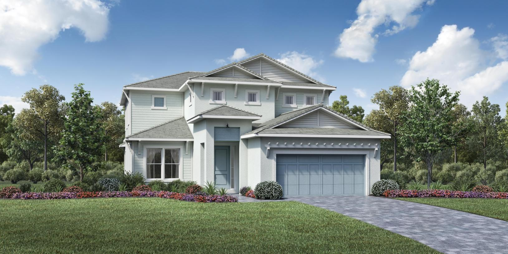 Exterior featured in the Torrance By Toll Brothers in Palm Beach County, FL