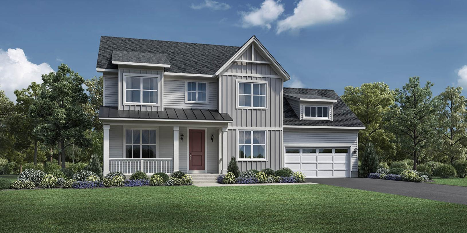 Exterior featured in the Newhart By Toll Brothers in Chicago, IL