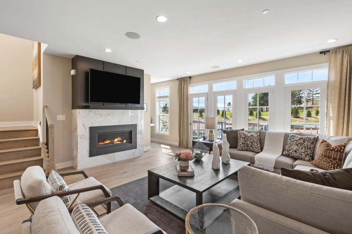 Living Area featured in the Carlough By Toll Brothers in Bergen County, NJ