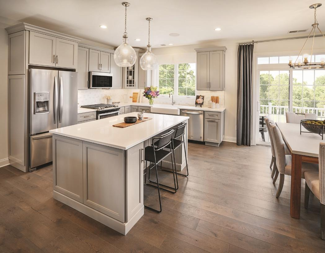 Kitchen featured in the Ansford By Toll Brothers in Danbury, CT