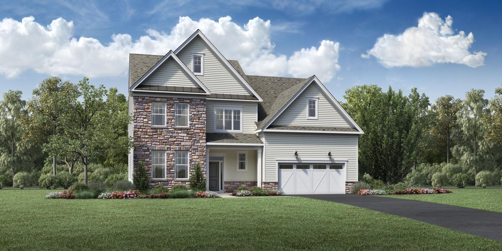 Exterior featured in the Colburn By Toll Brothers in Monmouth County, NJ