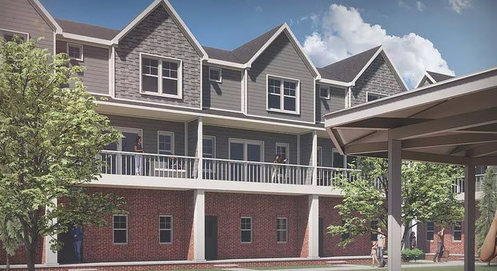 Exterior featured in the 3 bedroom Townhome By Tollbrook Auburn LLC in Detroit, MI
