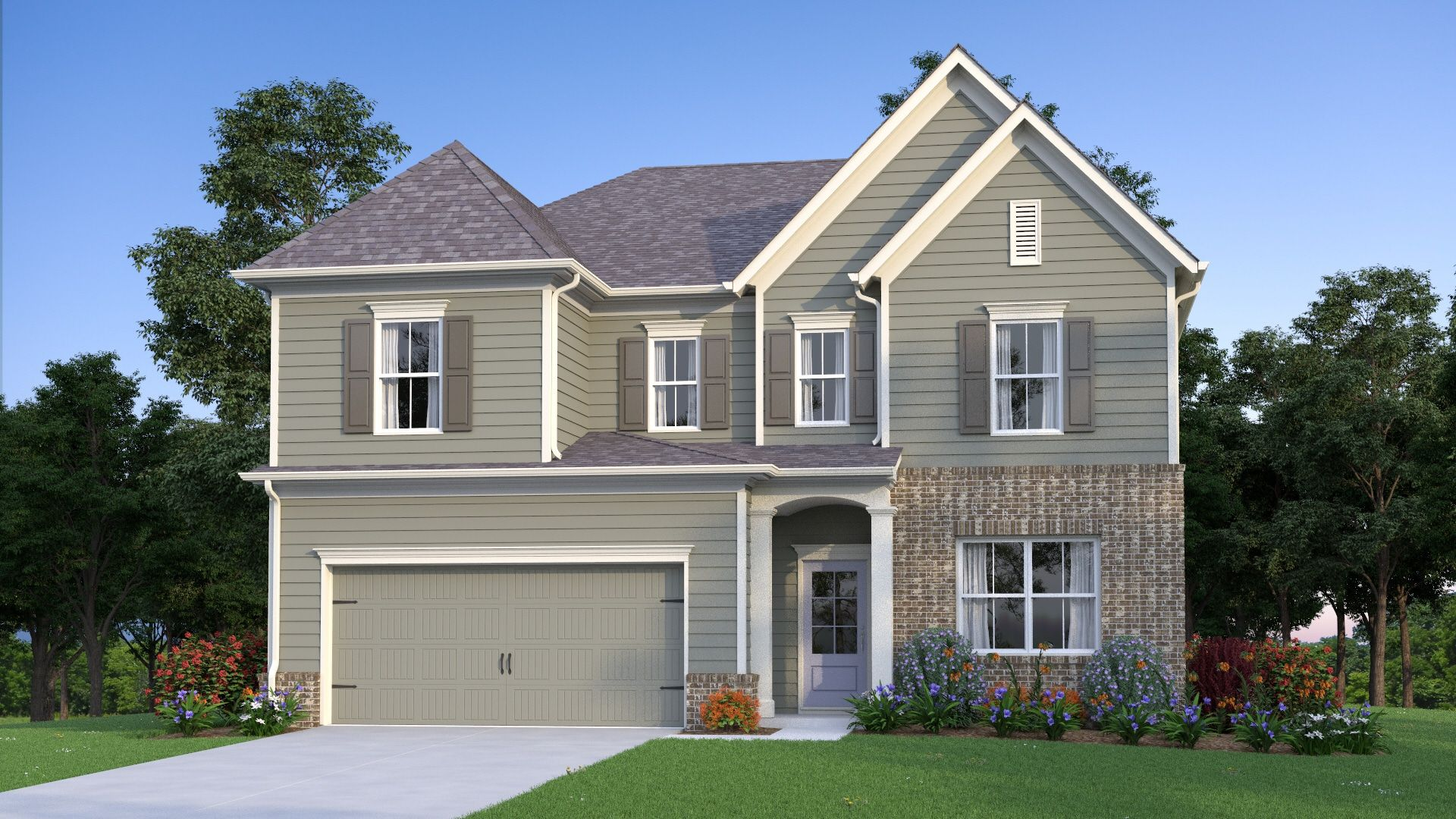 Exterior featured in the Addison By Traton Homes in Atlanta, GA