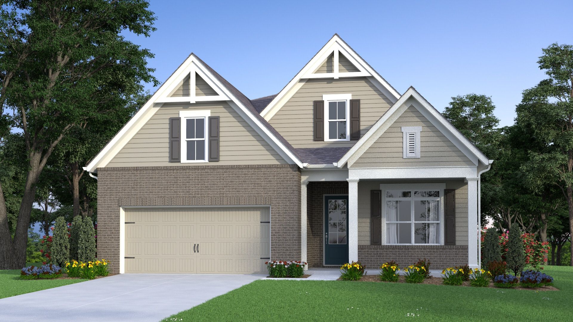 Exterior featured in the McQueen By Traton Homes in Atlanta, GA