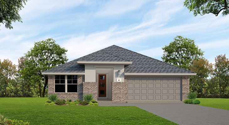 Clebourne | Elevation A:The Grove at 6 Creeks | Clebourne | Elevation A