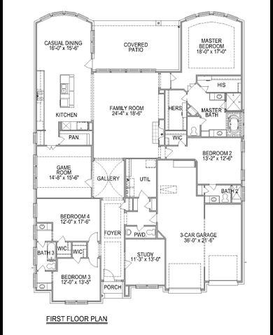 Plan F721 Plan Cypress Texas 77433 Plan F721 Plan At - Trendmaker Homes Floor Plans